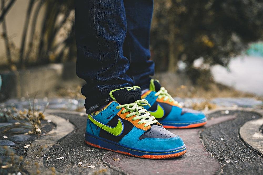 Skate or Die Nike SB Dunk Low Sneakers Photography