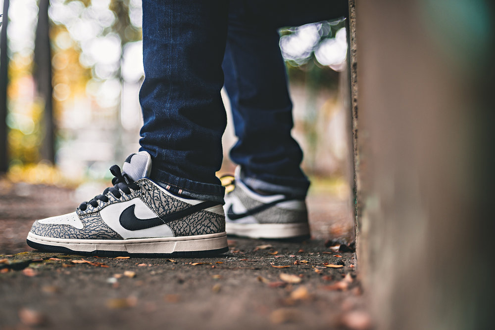 Supreme Nike Dunk SB Low White Cement Sneakers Photography WDIWT