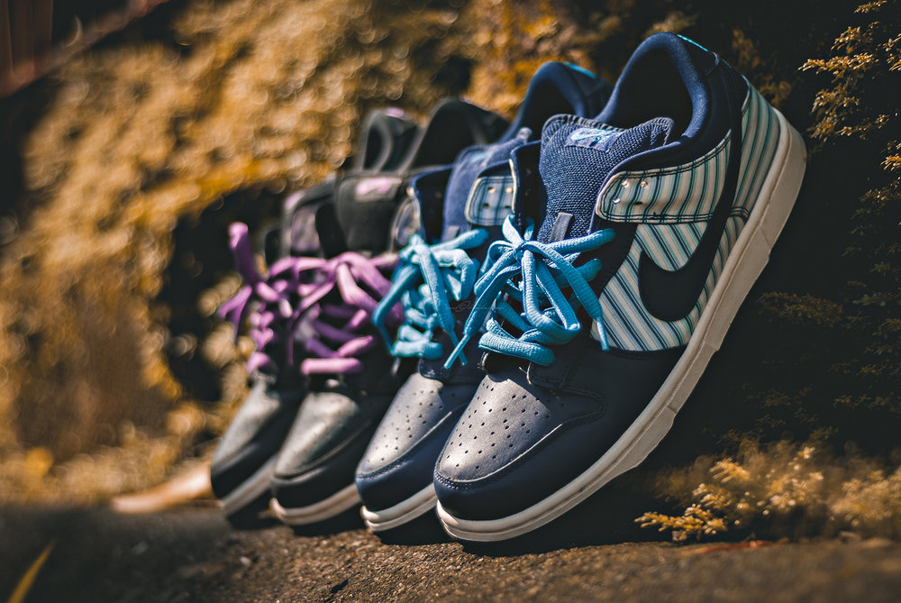 Avenger Pack Nike SB Dunk Low Sneakers Photography