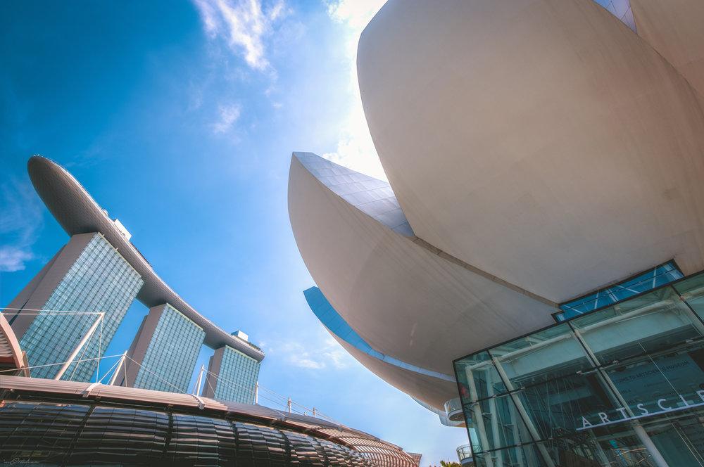 ArtScience Museum Marina Bay Singapore Travel Photography 2017