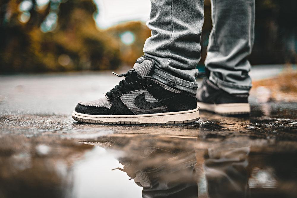Nike Dunk Low SB x Medicom 2 Denim Sneakers WDIWT Photography