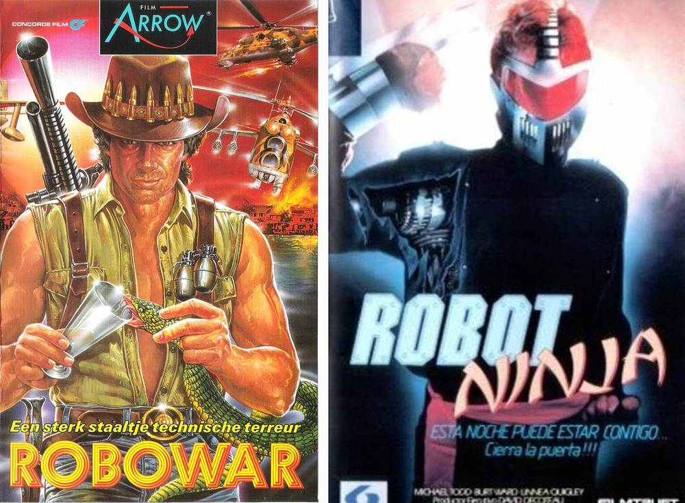 Yes that is Reb Brown from Strike Commando in the lead role in Robowar. Well spotted.