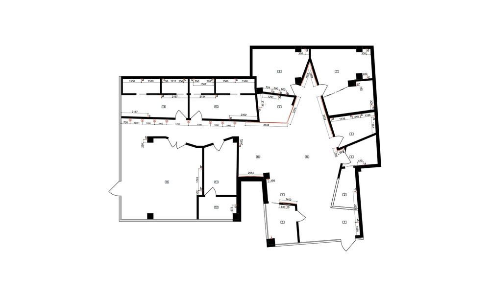 Floor and walls lighting plan