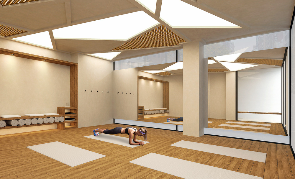 Yoga room interior visualisation