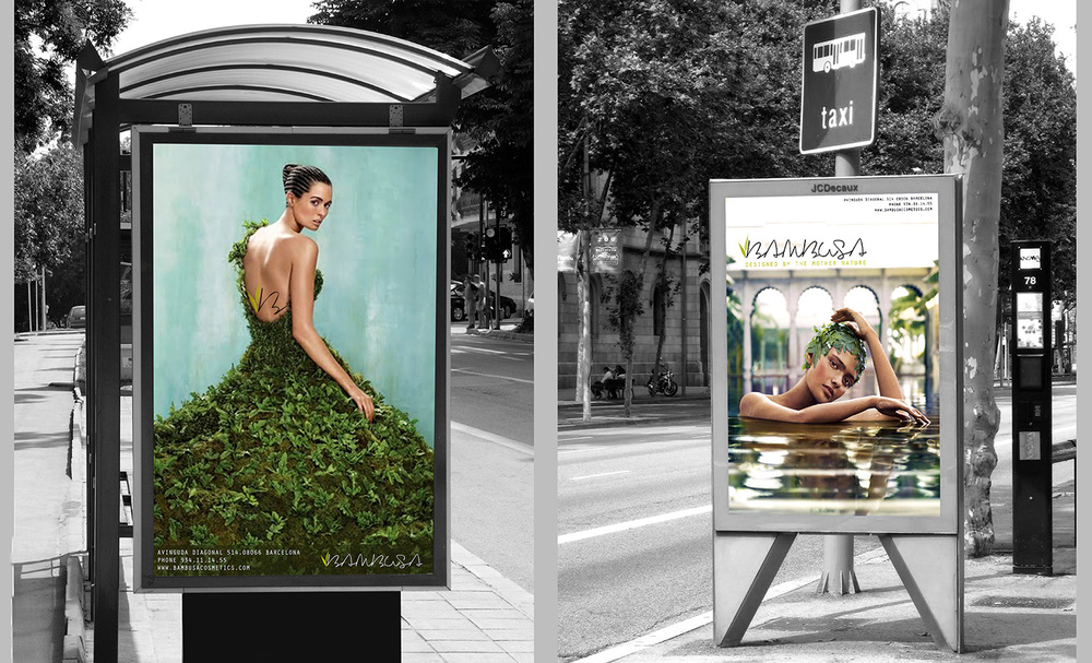 Advertisements in the city design