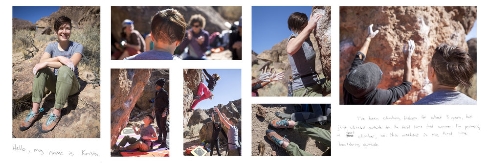 """Kristen, Women's Climbing Festival Attendee  