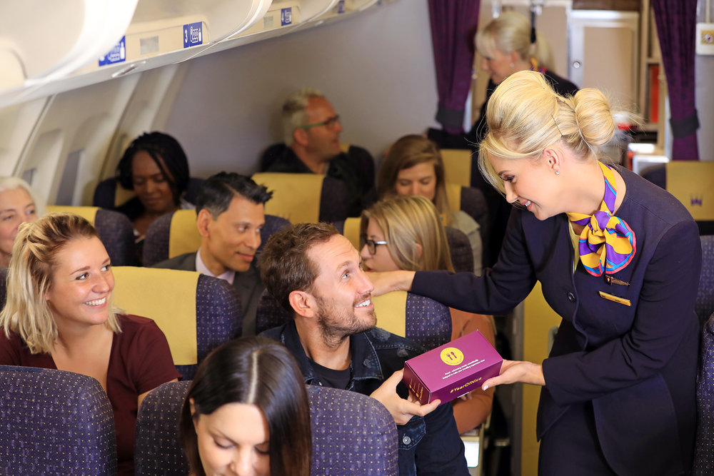 Monarch introduces new in-flight 'Mood Food' boxes; featuring snacks scientifically designed to improve the experience of travelling as part of Monarch's Year of Nice campaign.1.jpg