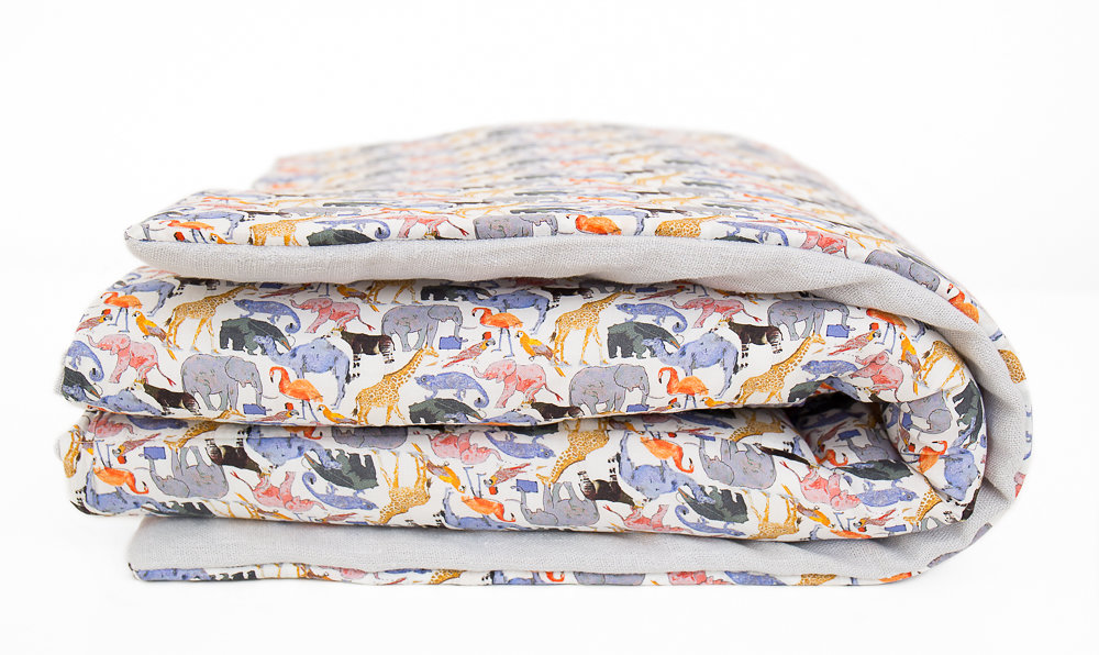 Liberty Print Quilt/ Playmat - Queue For The Zoo  85 GBP