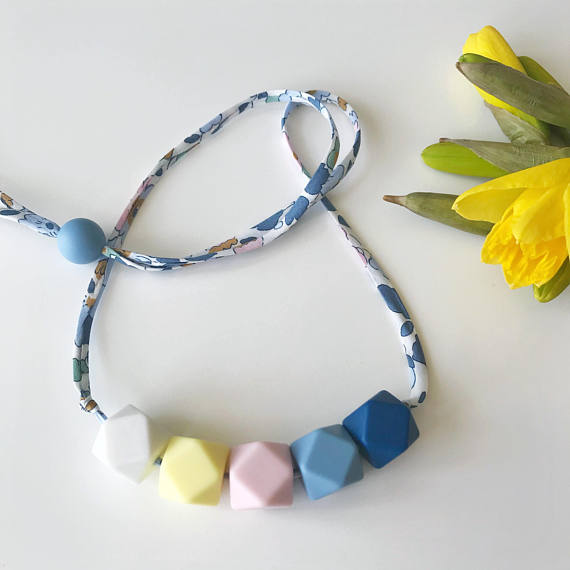 Birds and Pearl Teething Necklace