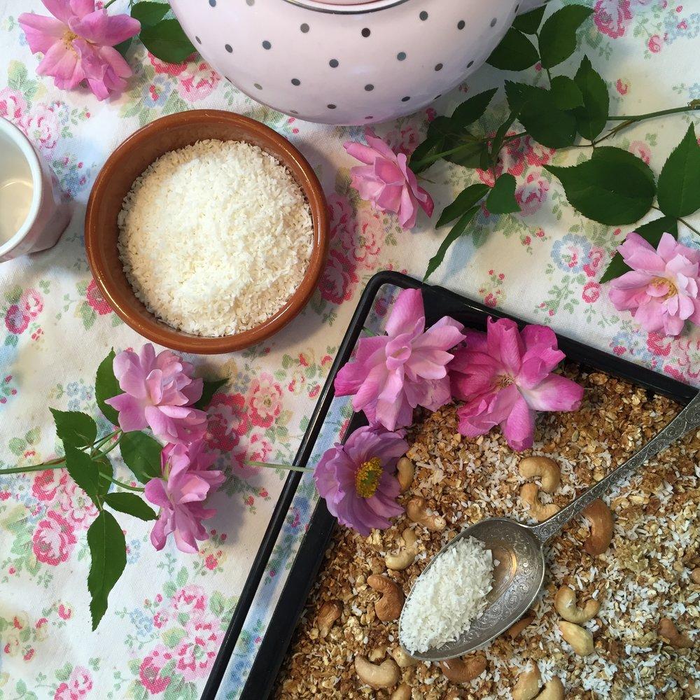Granola, coconut, teapot.jpg
