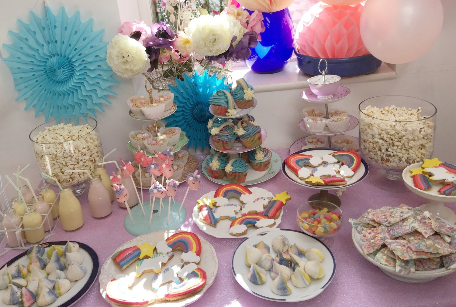 Unicorn Rainbow Cake Table Cookie Girl Baking Decorating Courses In London
