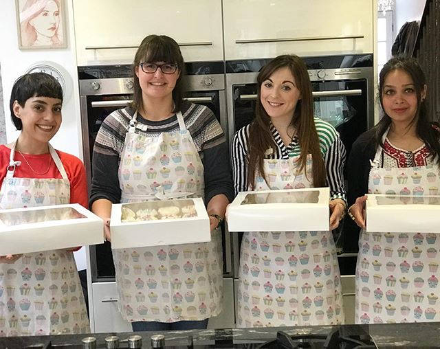 The lovely ladies from yesterday's half day cupcake baking class. #cakeclass #baking #cupcakes #workshop #cakedecorating #cakebaking #london #cookiegirl #NW2 #hens #corporateevents