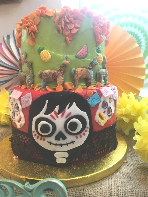 Coco 5th Birthday Cake Table