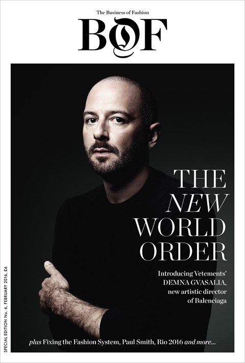 Demna Gvasalia  is BoF's Person of Year for 2016