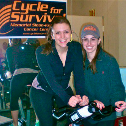 My best friend Shauna right there is pretty much a badass. We rode with some friends in the Cycle for Survival cancer fundraiser my senior year, this pic is from one of our donation rides.