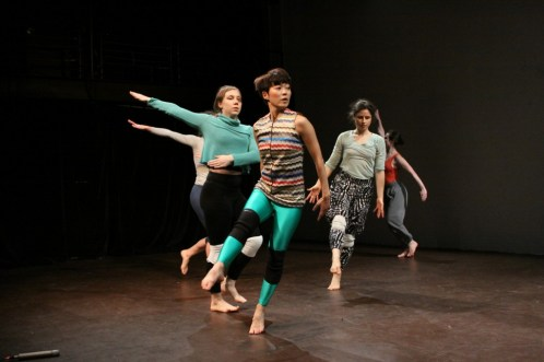 Juri Onuki performing in Rebecca Warner's Into Glittering Asphalt. Photo credit: Steven Schreiber.