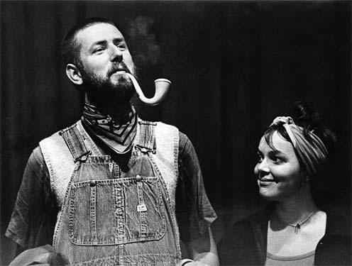 Met echtgenote Masje van Leusden, ca. 1967. Collectie Han Bennink