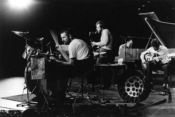 Met Willem Breuker, Misha Mengelberg en Derek Bailey, 1970. Foto Pieter Boersma