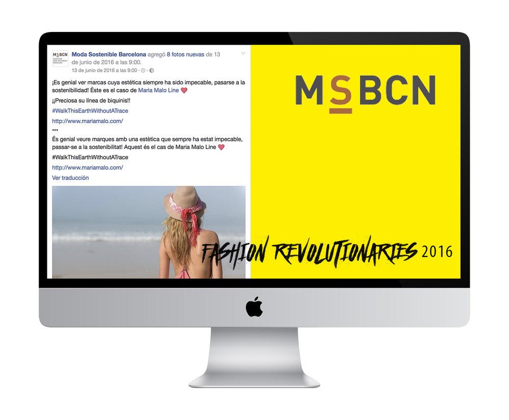 Maria Malo en Moda Sostenible BCN