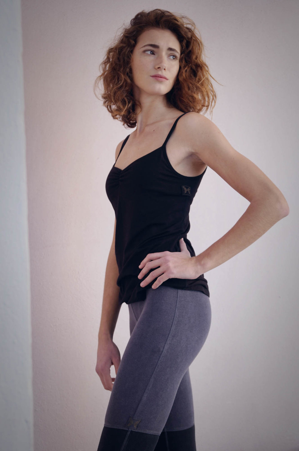 Maria Malo active wear organic clothing in black