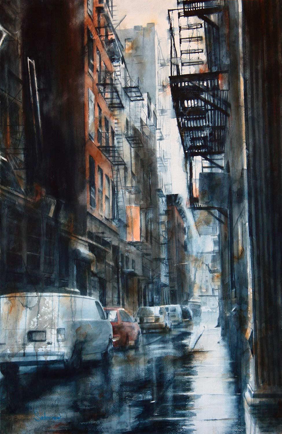 Cortlandt Alley, rain