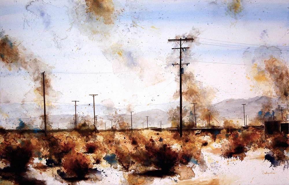 Telephone Poles, Joshua Tree