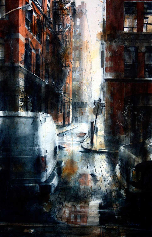 Jersey Street, rain