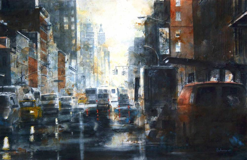 TIm Saternow West 14th Sreet, Rain , 2010 25.75x40""