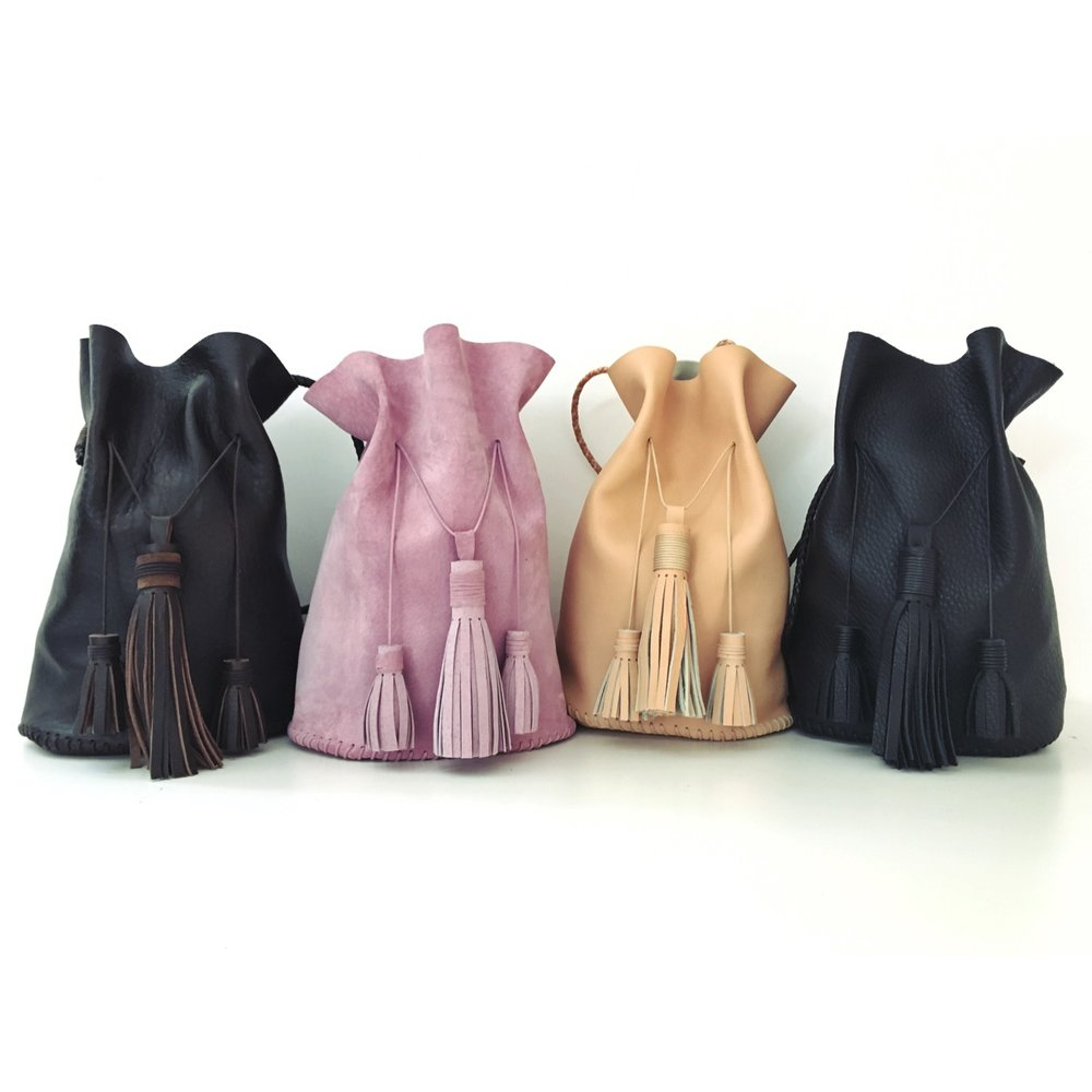 AIDA LEATHER BUCKET BAG   WHOLESALE $275  SRP $375