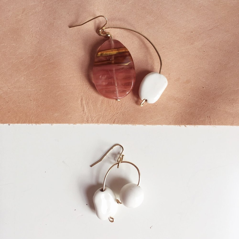 PEBBLE EARRING   WHOLESALE $47.50  SRP $95