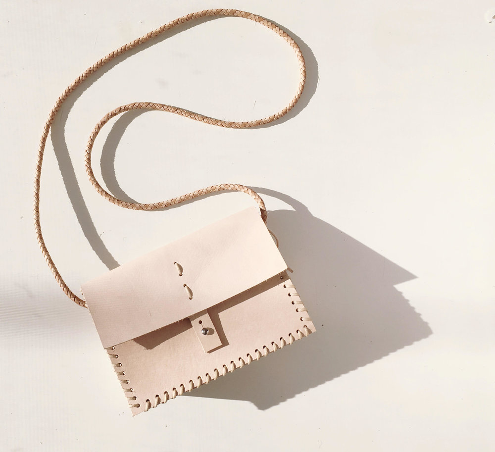 MILA MINI BOX BAG - NUDE BUCK  WHOLESALE $125  SRP $165