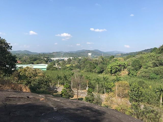 Currently in Sri Lanka 🇱🇰 with YR2  @fashionbuying_ravensbourne students to learn about sustainable manufacturing. We are being hosted by @mas_athena and have daily lectures on MAS values, sustainability and factory tours. This is my 2nd visit to MAS and I am constant blown away by their commitment to their people, efficiency and the environment. We have learnt so much and we are only on Day 2! This afternoon we climbed a rock to look out over some of the 165 acre fabric park. . . . #sustainable #learning #students #sourcing #fabrics #fashionbuying