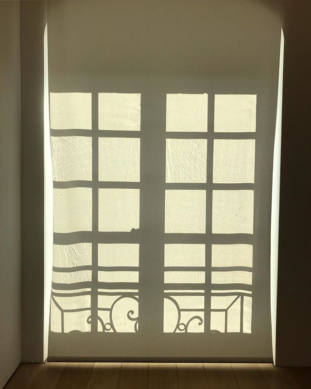 Beautiful sunlight on the shades at the Picasso Museum. . . . #light #shadow #shades #paris