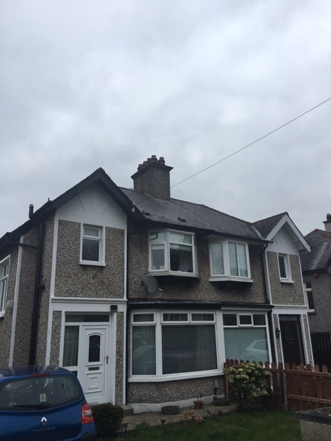 Roof vents, Affordable Warmth customer, Belfast.