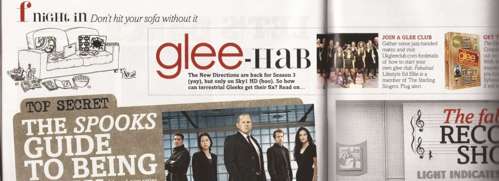 Our picture in Fabulous Magazine to coincide with Season 3 Glee