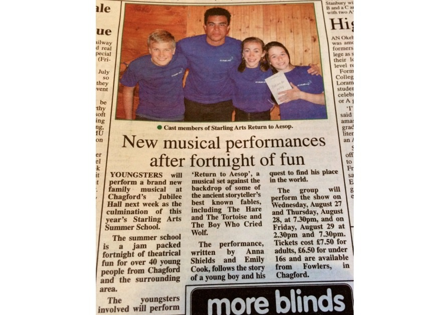 Local press coverage of our Summer School programme in Devon