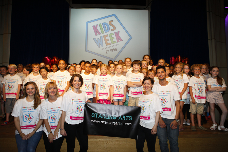 Starling Arts work with a range of organisations to bring high quality singing events to groups of all ages and sizes, including Society of London Theatre's Kids Week.