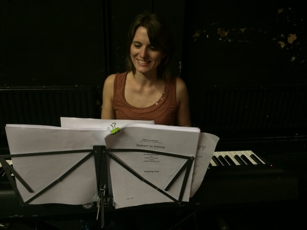 Anna at a workshop for Garsin & Shields' 2014 musical 'Return to aesop'