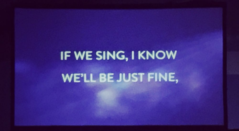 Wise words during the closing song of BroadwayCon 2017