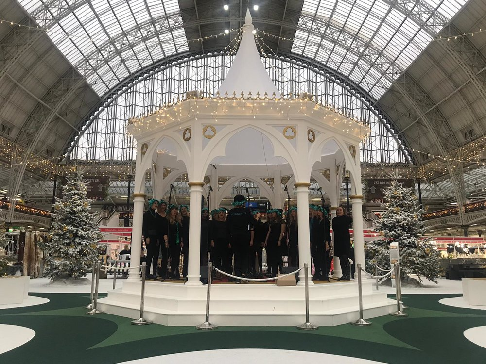 Performing at the Ideal Home Show Christmas