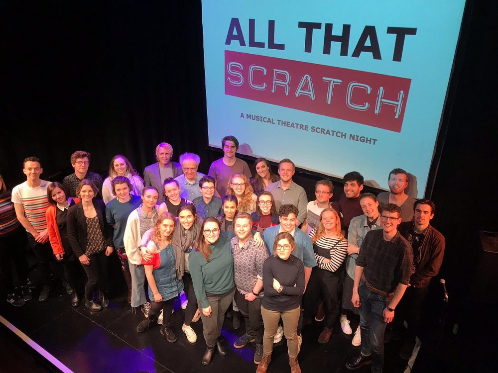 The writers, performers and All That Scratch team, on stage at The Other Palace Studio