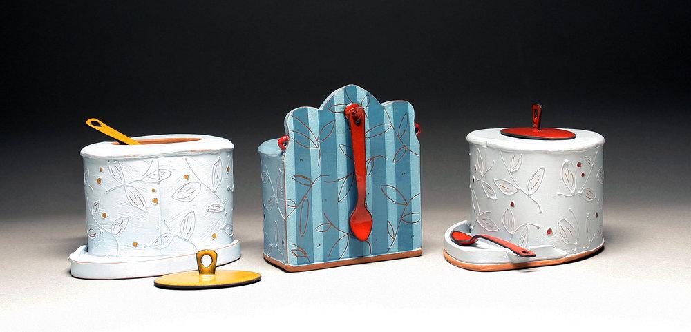 Floral Salt Boxes