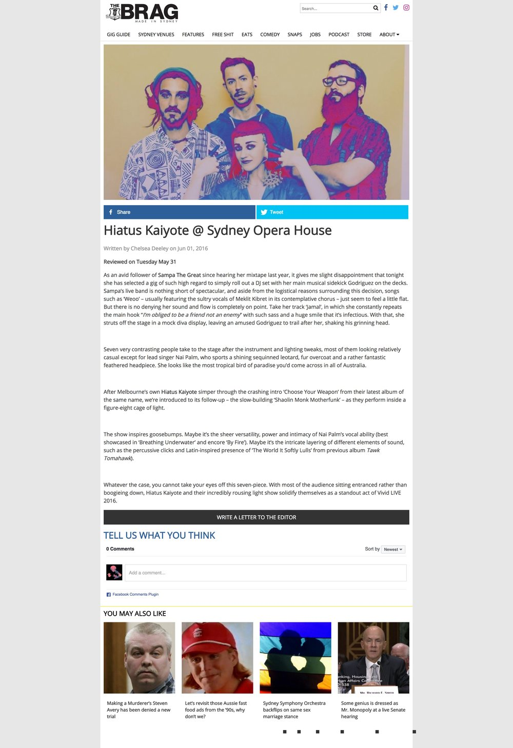 Hiatus Kaiyote @ Sydney Opera House