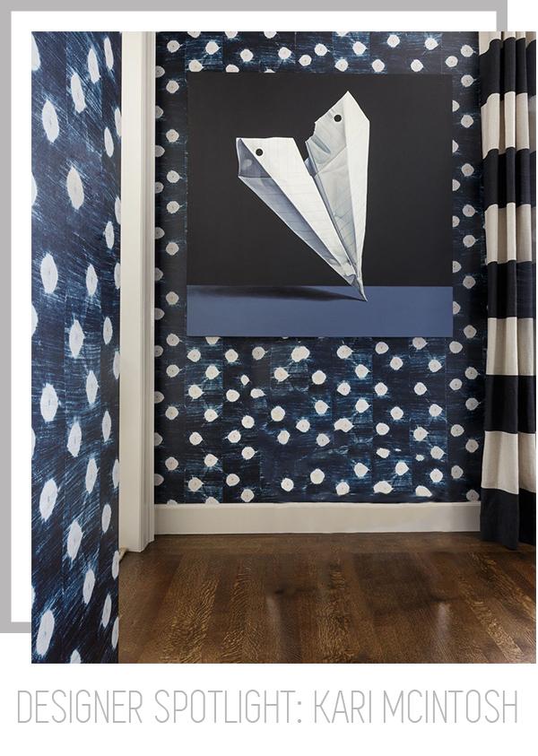 Curtains in Megan Indigo Stripe by Bolt Textiles