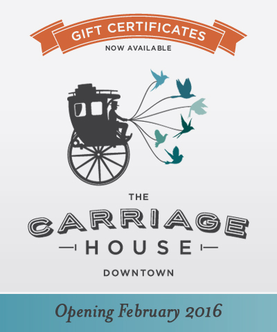 For more information and to purchase gift certificates for Carriage House Cooking Classes, please contact Megan Noli at   megan@janos.com   or at 615-6100.