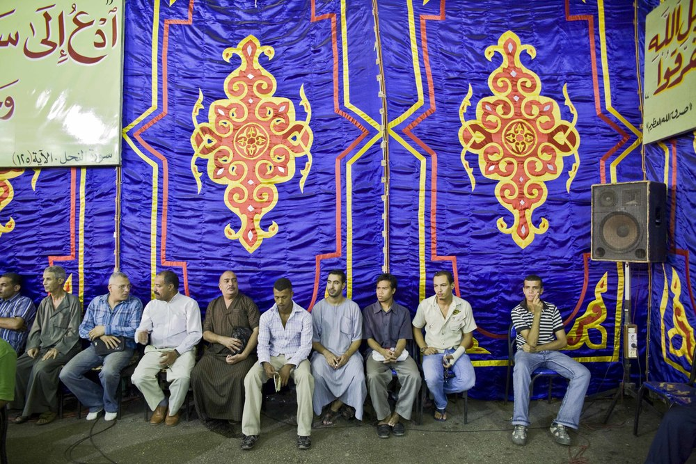 Il Cairo - Festival Canto del Corano (19) Moschea Sayyidna al-Hussein - Una delle conferenze di presentazione del concorso.jpg