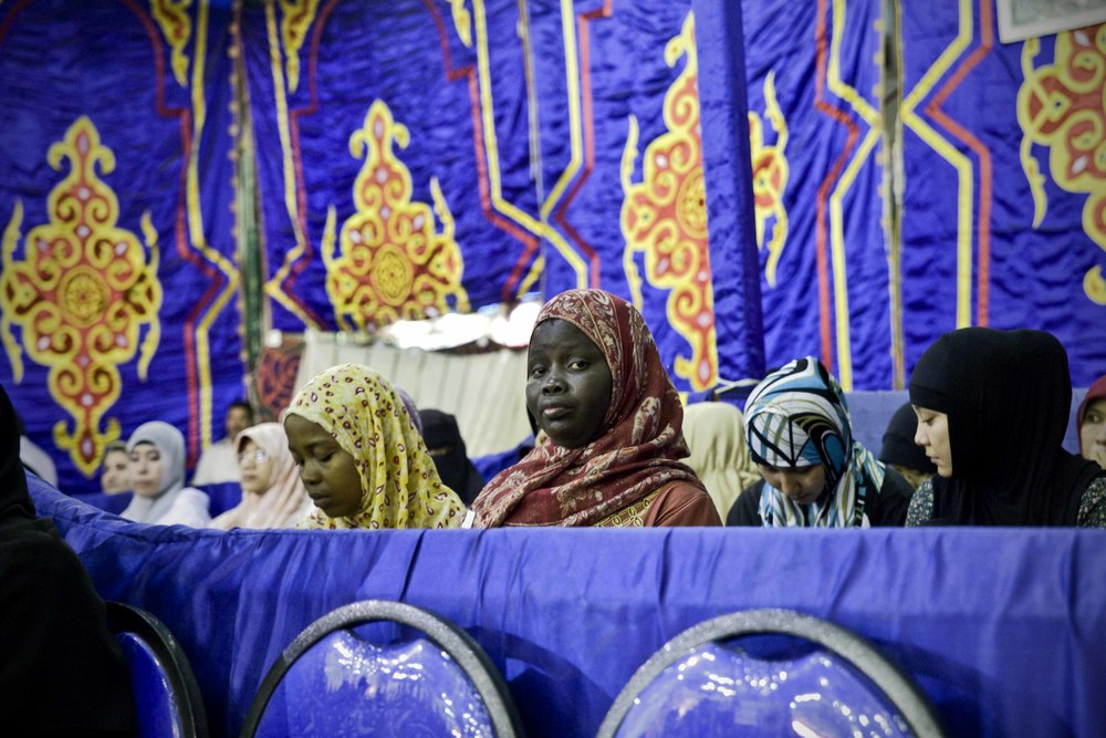Il Cairo - Festival Canto del Corano (21) Moschea Sayyidna al-Hussein - Una delle conferenze di presentazione del concorso.jpg
