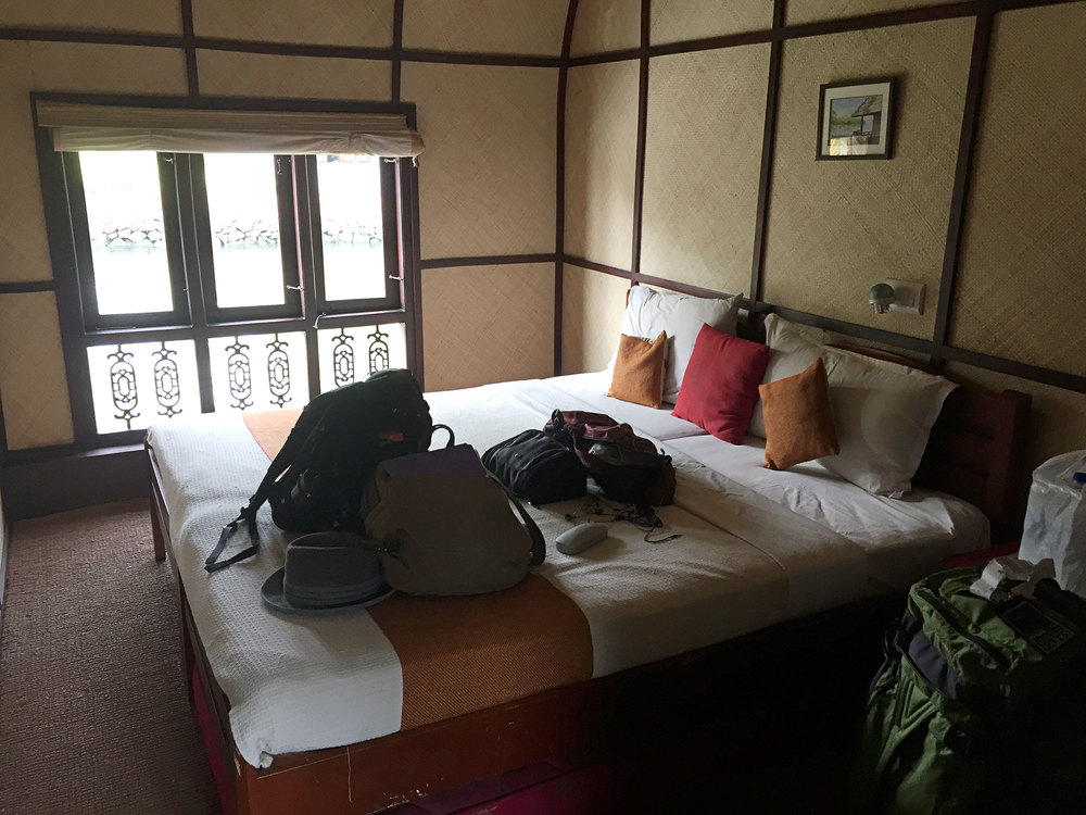 First look at our bedroom on the houseboat.