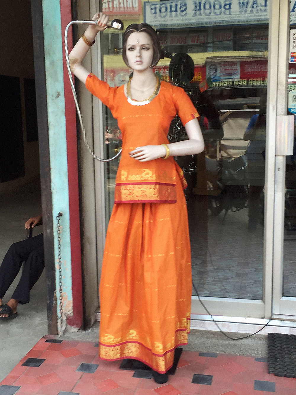 Creepy manikin on the streets of Kochi.