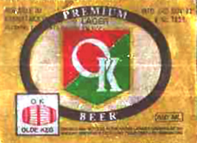 Premium OK Beer label.
